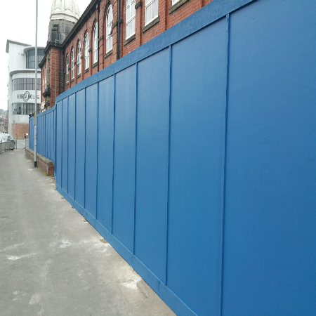 Steel Timber Hoardings Yfh Yorkshire Fence Hire